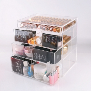 87630cb62 organizador de maquillaje acrílico. cajón acrílico de 4 niveles con asa  personalizada